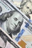 Предпосылка денег (близких вверх долларовой банкноты) Стоковая Фотография RF