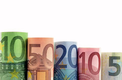 Предпосылка денег евро Стоковое Фото