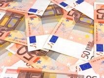Предпосылка денег дела с европейским евро Стоковое Изображение RF