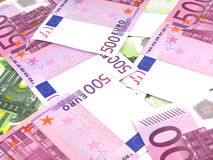 Предпосылка денег дела с деньгами евро Стоковая Фотография RF