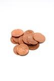 Предпосылка денег монетки/стог денег/тайская ванна Стоковое Изображение RF