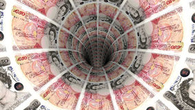 Предпосылка денег от английского фунта Стоковые Изображения RF