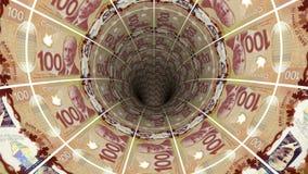 Предпосылка денег от канадского доллара Стоковое Изображение RF