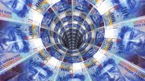 Предпосылка денег от швейцарского франка Стоковое фото RF