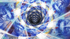 Предпосылка денег от швейцарского франка Стоковые Фотографии RF