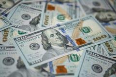 Предпосылка денег - 100 долларов Стоковая Фотография RF