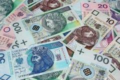 Предпосылка денег польская Стоковая Фотография RF