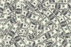 Предпосылка денег с много долларом США Стоковое Изображение