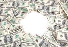 Предпосылка денег с пустой областью Стоковые Изображения RF