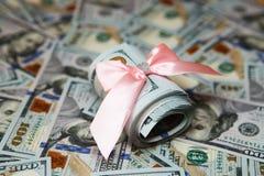 Предпосылка денег для дела, доллара, денег Стоковое фото RF