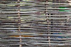 Предпосылка деревенской загородки от малого дерева запруживает Стоковое Фото