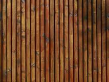 Предпосылка - деревянная текстура от палисадов, рекламируя поверхность, рыжеватую Стоковые Фото