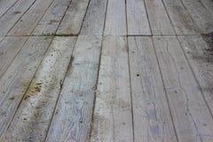 Предпосылка деревянного моста текстурированная картиной Стоковая Фотография