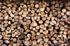 Предпосылка деревянных журналов, колец года Стоковые Фотографии RF