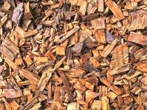 Предпосылка деревянных shavings и деревянных заноз Стоковая Фотография