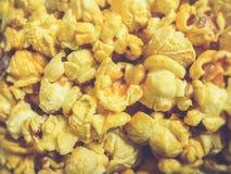 предпосылка есть попкорн макроса еды текстурировала Стоковые Фотографии RF