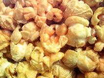 предпосылка есть попкорн макроса еды текстурировала Стоковые Фото