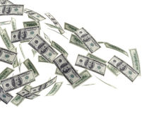 Предпосылка летания денег Стоковая Фотография