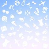 Предпосылка лета с текстом Стоковое Изображение RF