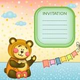 Предпосылка детей с teddybear Стоковое фото RF