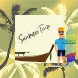 Предпосылка летнего времени Стоковое Фото