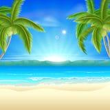 Предпосылка летнего отпуска пляжа Стоковая Фотография RF