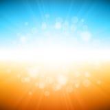 Предпосылка летнего отпуска пляжа Стоковая Фотография