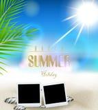 Предпосылка летних отпусков с фильмом рамки иллюстрация штока