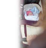 Предпосылка детской дорожной коляски на внешнем Стоковое фото RF