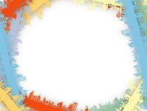 Предпосылка дела зеркала цепи города недвижимости Стоковое Изображение
