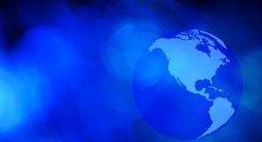 Предпосылка дела карты мира синяя Стоковое Изображение RF