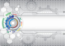 Предпосылка дела компьютерной технологии абстрактной футуристической цепи высокая Стоковое Изображение RF