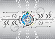 Предпосылка дела компьютерной технологии абстрактной футуристической цепи высокая Стоковое фото RF