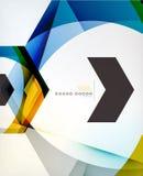 Предпосылка дела конспекта формы стрелки геометрическая Стоковое Изображение