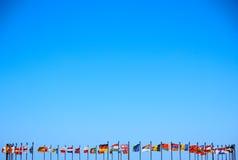 Предпосылка дела международных флагов Стоковое Фото