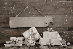 Предпосылка дела рождества с настоящими моментами для ваучера или gif Стоковое Изображение RF