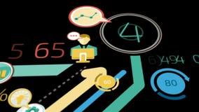 Предпосылка дела с элементами Infographics Канал альфы