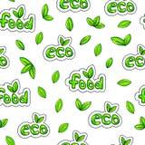 Предпосылка еды Eco Безшовная картина для конструкции Иллюстрации анимации Ручная работа Handdrawn эскиз Стоковые Изображения