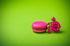 Предпосылка еды macaroon цвета весны ягоды Стоковая Фотография