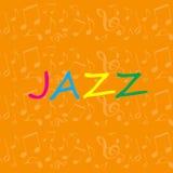 Предпосылка джаза Стоковые Изображения RF