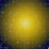 Предпосылка - желтый цвет/голубая мозаика Иллюстрация штока