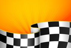 Предпосылка желтых гонок Стоковое фото RF