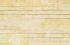 Предпосылка желтых кирпичей Стена желтых кирпичей кирпич разбил белизна стены текстуры гипсолита Стоковое Изображение RF