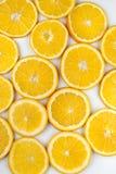 Предпосылка желтых кусков лимона Стоковые Фотографии RF