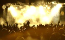 Предпосылка живой музыки Стоковая Фотография