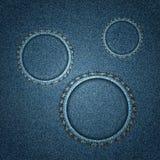 Ряд джинсовой ткани Стоковые Фото