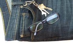 Предпосылка джинсовой ткани Стоковые Изображения RF