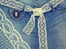 Предпосылка джинсовой ткани Стоковые Изображения