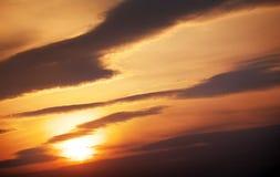 1 предпосылка заволакивает пасмурное небо Стоковые Изображения RF