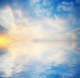 1 предпосылка заволакивает пасмурное небо Стоковые Изображения